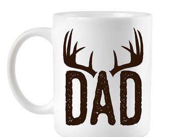 Funny Coffee Mugs, Dad Mug, Dad gift, gift for dad, fathers day mug, gift for father, father son gift, Unique dad gift, deer Mug