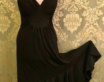 Black Halter Flamenco Dress
