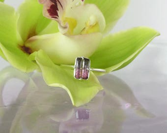 Graduation Gift For Her, Watermelon Tourmaline, Rainbow Tourmaline, Tourmaline Ring, Natural Tourmaline Ring, Bi Color Tourmaline