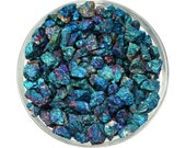 """1/4 lb Chalcopyrite """"Peacock Ore"""" Small Stone Rough Crystal Chips aka Bornite Healing Crystal and Stone Jewelry & Crafts #CS01"""