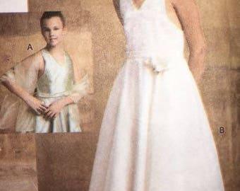 Vogue Girl Dress and Stole 7684 Flower Girl / Wedding/ Formal