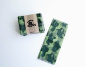 "Unpaper Towels Cloth Napkins 12 Flannel Tissues  - Choose your size (8""x 8"" or 10"" x 12"")  - 1 PLY -  Camouflage"