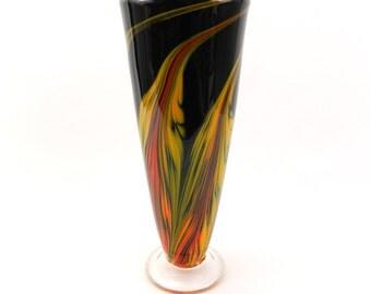 Tall Hand Blown Art Glass Vase