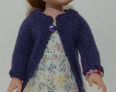 Garden Tea Party Sweater, Dress & Bracelet Set fits American Girl Wellie Wishers Doll Clothes