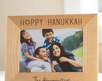 Custom Hanukkah Picture Frame: Personalized Hanukkah Picture Frame, Happy Hanukkah Picture Frame, Personalized Chanukah Picture Frame