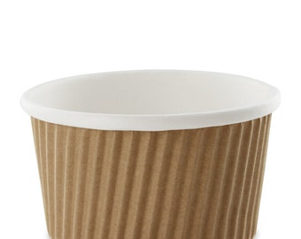 8oz Kraft Ripple Hot or Cold Cup 20 cups -8oz-Party Favors, Crafts, Ice Cream, soups,
