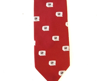 Vintage 80s retro necktie neck tie TRS-80 style technology computer IT tech support techie nerd gift