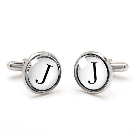 Monogrammed Cufflinks - Personalized Initial Cufflinks - Cool and Unique Gifts for Groom Best Man and Groomsmen - Jewelry for Men