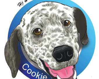 Custom pet caricature / pet's portrait / pet's party celebration / gifts for pets