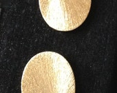 5 Gold Brushed Ovals Top Drilled, 5 Pieces