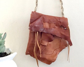Tan Leather Cross Body Purse