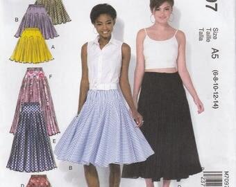 Awesome Godet Skirt Pattern McCalls 7097 Sizes 6 - 14 Uncut