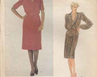 Pierre Balmain Dress Pattern Vogue Paris Original 2771 Size 10 Uncut