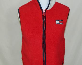 VTG 1990s Tommy Hilfiger Fleece Vest Women's Size Small