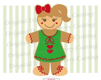 Gingerbread Girl svg dxf,Christmas Sweet Gingerbread,Gingerbread Silhouette Cut Files, Cricut Cut Files CHSVG27 -Personal and Commercial Use