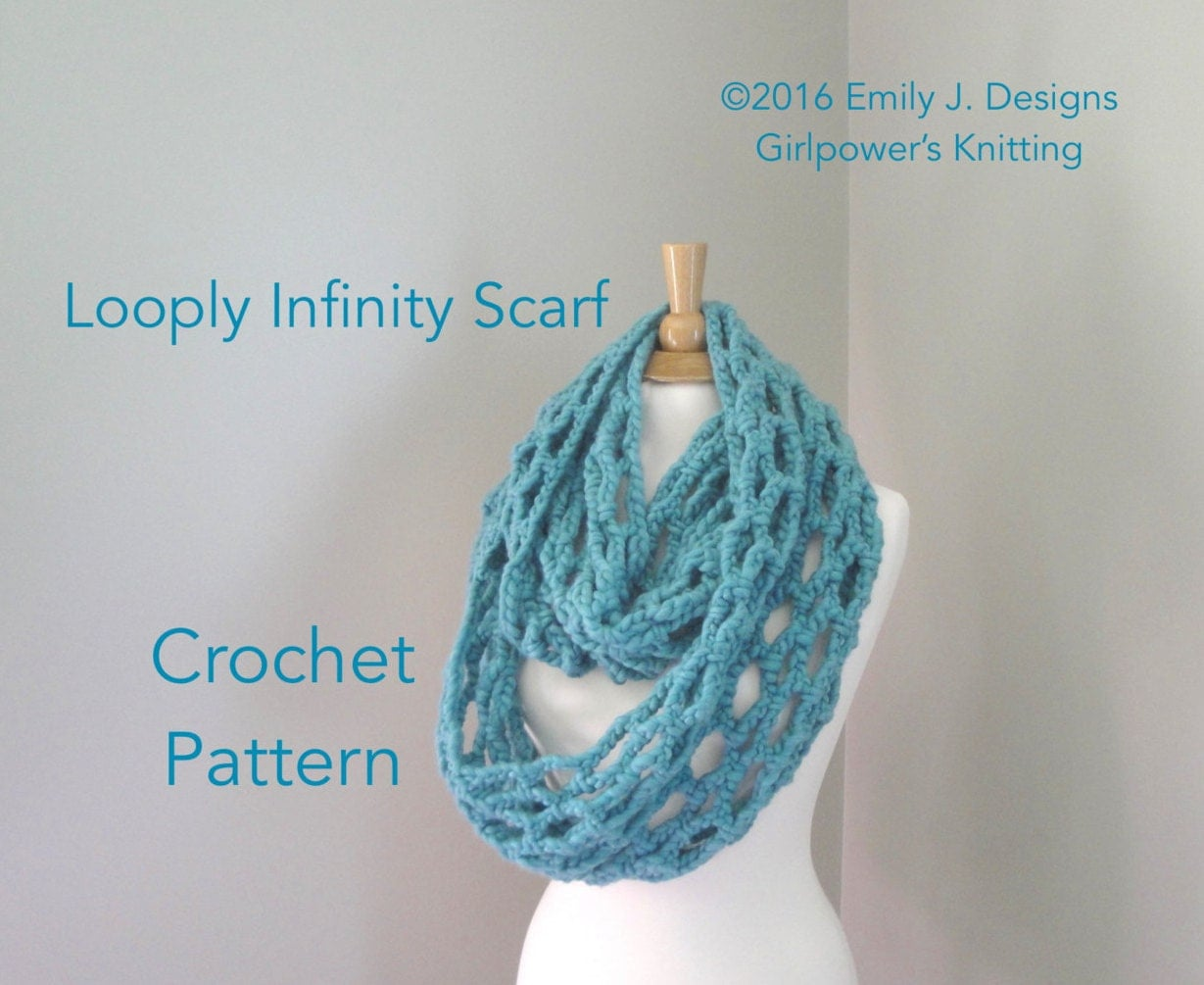 Crochet Pattern Chunky Infinity Scarf ~ Dancox for .