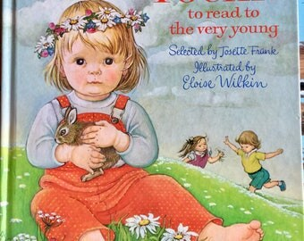 Vintage Book, Poems to read to the very young, Eloise Wilkin, 1982