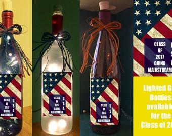 Class of 2017 Lighted Bottles