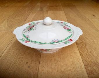 Antique Tureen Casserole Serving Bowl Dish Edwardian by H&K Hollinshead and Kirkham Home Kitchen Serving