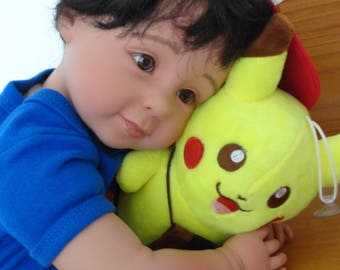 "22"" Reborn Baby/Toddler Boy Doll ""Tyler and Pikachu"""