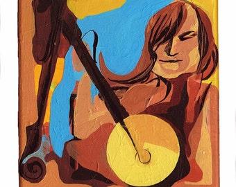 Small Original Painting Series – Musician Acrylic