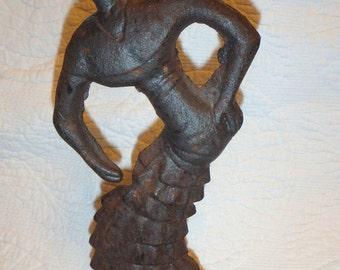 Possible Reproduction Cast Iron Rhumba Dancer Doorstop