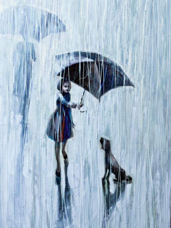 Umbrella for two 2011,OIL Painting Print, Print on rolled Canvas, Print of Original Oil Painting,