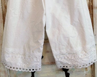 Washed Cotton Bloomers | White Bloomers | Eyelet Lace Bloomers | Ellie Ann and Lucy