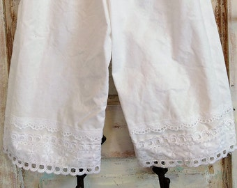 Washed Cotton Knickers with Eyelet Lace Ellie Ann and Lucy