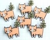 SECONDS SALE - Plant Kitty Soft Enamel Pin