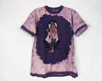 Grunge T Shirt/ Hindu God/ Krishna/ Hippie T Shirt/ Hare Krishna/ Ganesha/ Boho T Shirt/ India Clothing/ Hamsa Shirt/ Hindu/ Buddha Tshirt