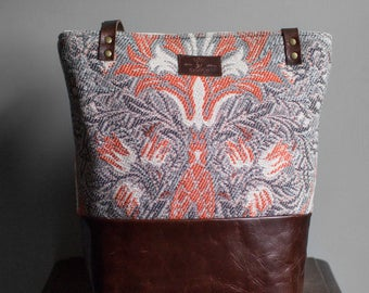 laptop tote leather-womens laptop tote-work tote leather-leather tote bag-women large tote bag-large tote bag- orange and grey
