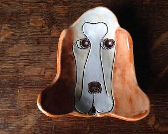 Spoon Rest Stoneware Clay BASSETT HOUND