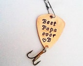 Fishing Lure Best Papa Ever, Personalized fishing lure, Dad gift for dad, fishing gear, custom gift, Valentines Day, fisherman present him