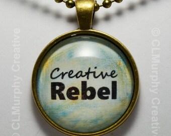 Custom Hand Art Necklace Pendant Jewelry Creative Rebel Pendant C L Murphy Creative