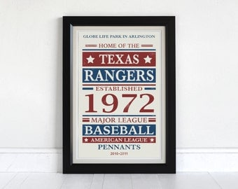 Texas Rangers - Screen Printed Poster