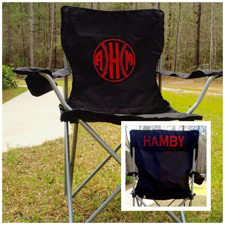 monogrammed chair camp chair softball baseball groomsman