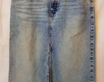 S/M Small Medium Vintage GAP Jean 80s 90s Festival Boho Indie Alternative faded Western Preppy Casual Grunge Boho Festival Denim Skirt