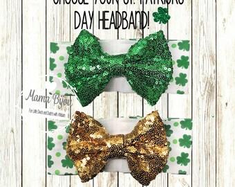 St Patricks Day Headband Shamrock Baby Girl Headband St Patricks Day Baby Outfit 1st St Patricks Day Baby Girl Headband Baby Accessories