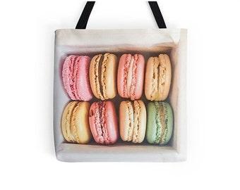Paris Macaron Print Bag - Paris bag - Macaron bag