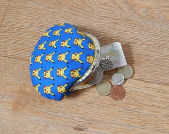 Blue Pikachu patterned metal frame coin purse - Pokemon