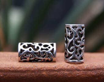 6 Tibetan Style Silver 8mm Hole (5/16 Inch)