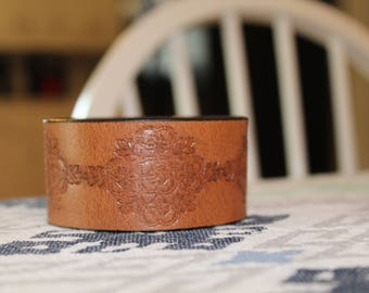 Leather repurposed cuff bracelet - you customize