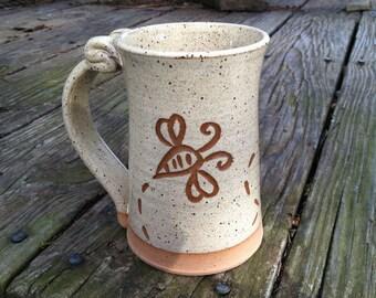 Bee Mug, Pottery Mug