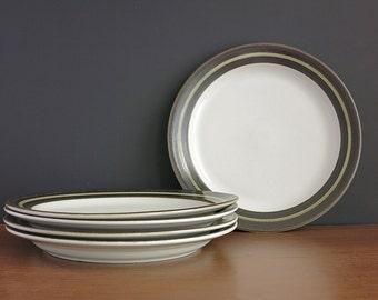 "Arabia Karelia Dinner Plates - 1970s Arabia Finland Karelia Plates - Anja Jaatinen-Winquist Design - 10"" Dinner Plates - 4 Available"
