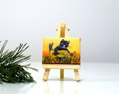 Guitars miniature Guitar artwork Small art Acoustic guitar Musical Instrument mini guitar painting Gift for musicians Music birthday gift
