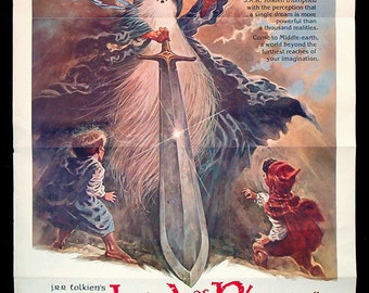 The LORD of THE RINGS original 1978 movie poster Tolkien Bakshi