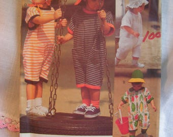 VOGUE Jumpsuit and Hats Little Sport Very Easy Child XS S M Vogue 8579 uncut factory folded vintage 1993 sewing pattern
