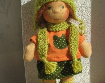 Little frog pixy - waldorf doll - 9 inch