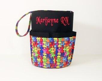 Monogrammed Bingo Bag Tote/ Craft Bag